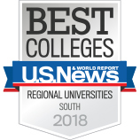 Badge for Best Colleges U.S. News & World Report - Regional Universities - South 2018