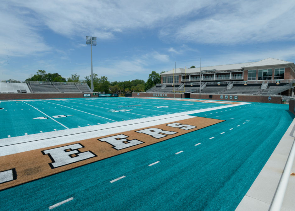 Brooks Stadium Teal Turf