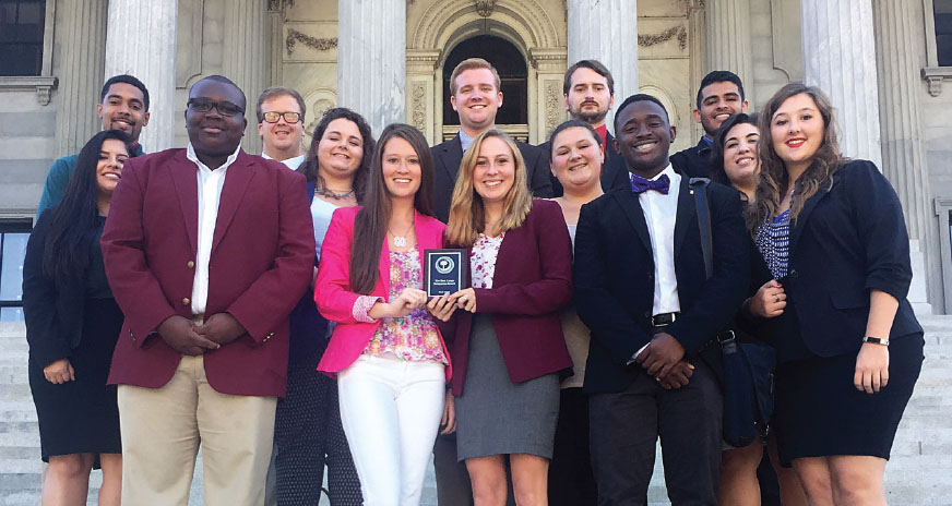 CCU delegation takes top honors at student legislature competition