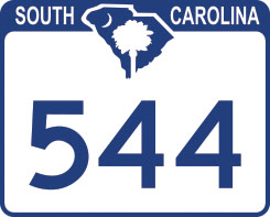 Hwy 544 Road Sign