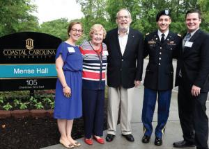 "Mense Hall named for former CCU administrator - Cmdr. Louis ""Hank"" Mense Hall"
