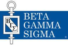 Beta Gamma Sigma - Business honor society receives top honor
