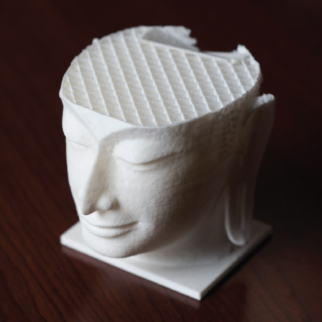 3-D printed replica of classical sculpture.