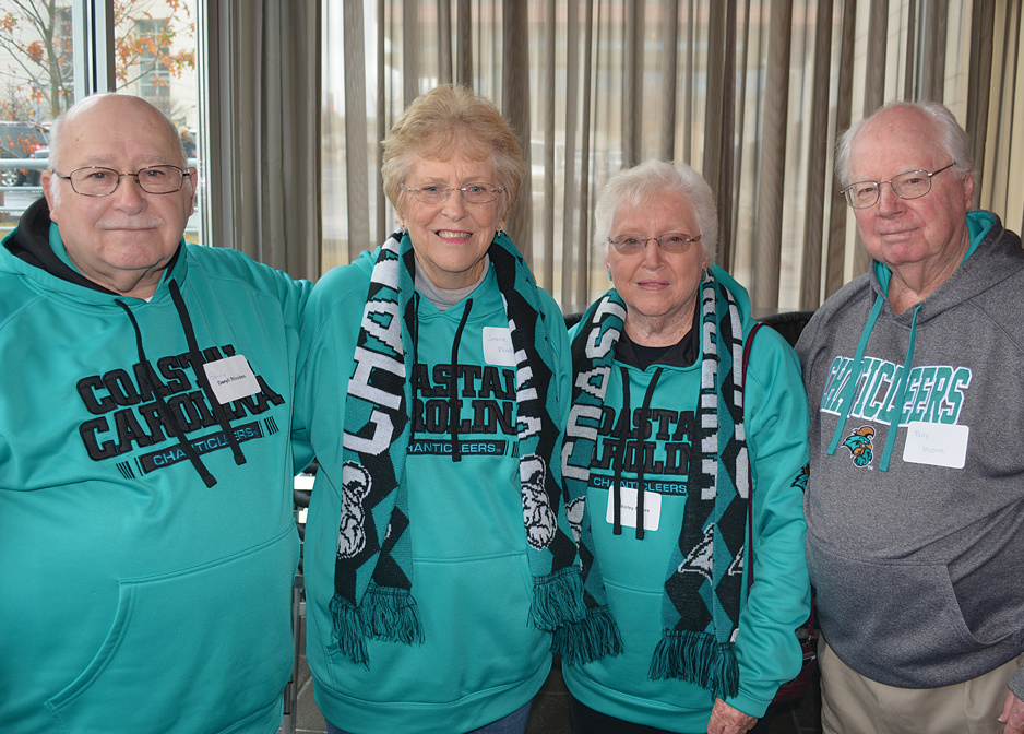 Image from alumni gathering in Columbia on December 9, 2017, before the Chanticleers' men's basketball team played the University of South Carolina.