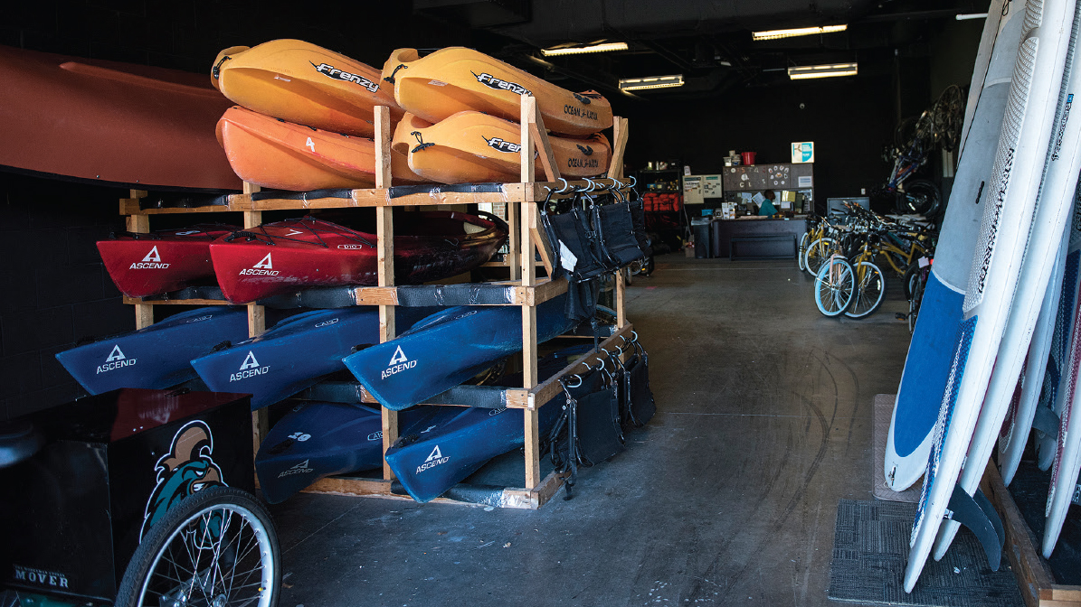 CCU's Outdoor Center offers mountain bikes, kayaks, paddleboards and all types of camping and fishing gear at low costs.
