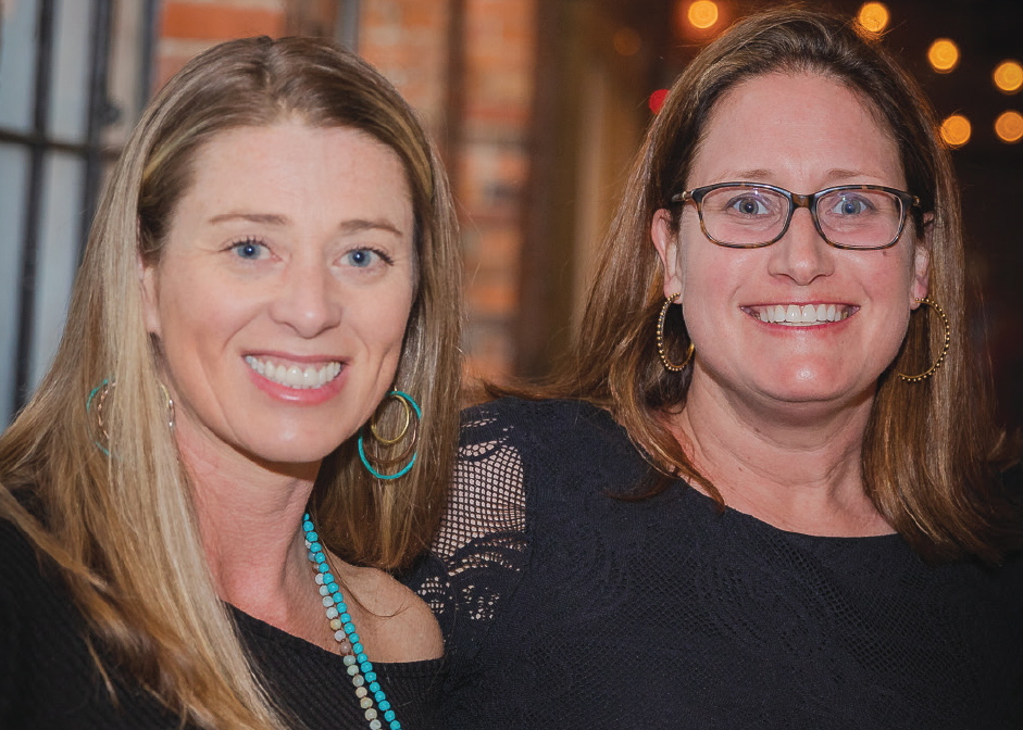 Chrissy Mays '99, Ashley Setzer at the third annual Boots and Bronze CCU alumni event.
