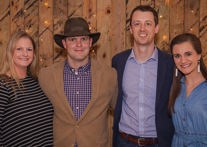 Jen and David Page with Andrew and Kaitlin Nash at the third annual Boots and Bronze CCU alumni event.