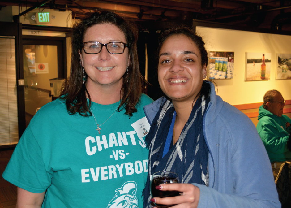 Sherry Johnson '96, Sunnie Malik '16 enjoying the CCU alumni gathering in Seattle.