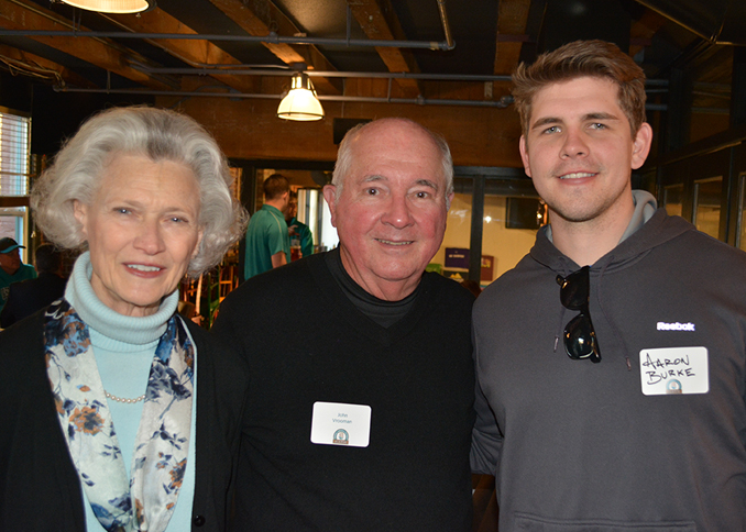 Deborah and John Vrooman, and Aaron Burke enjoying the CCU alumni gathering in Seattle.
