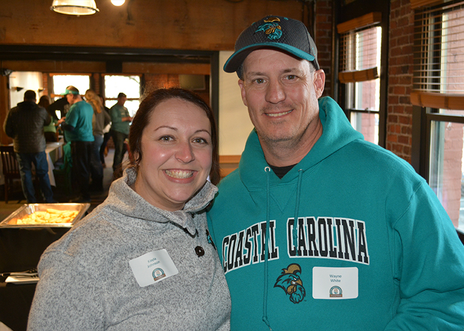 Kayla Johnson and Wayne White enjoying the CCU alumni gathering in Seattle.