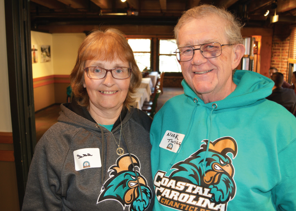 Sue Gomez, Nick Twigg enjoying the CCU alumni gathering in Seattle.