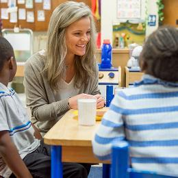 Teacher with Students Lakeview Elementary image