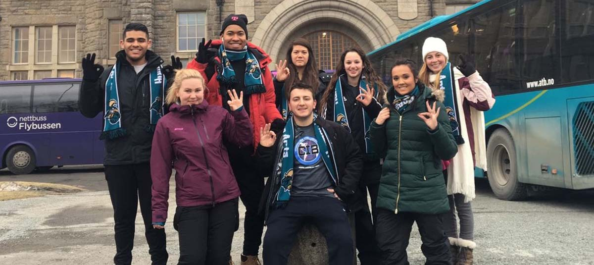 CCU students at International Student Festival in Norway