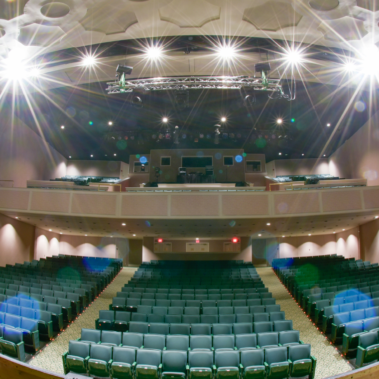 Shot of Wheelwright Auditorium with Strong Lights