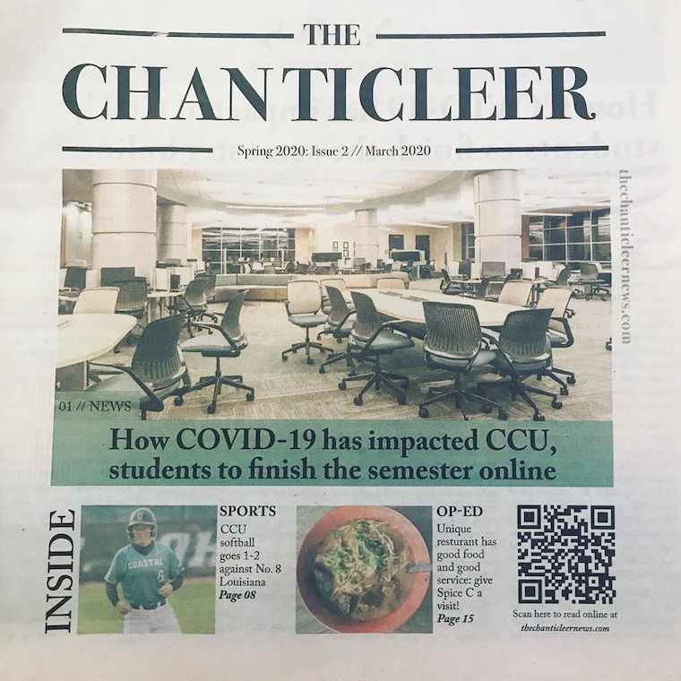 Chanticleer News Front Page of Print Edition