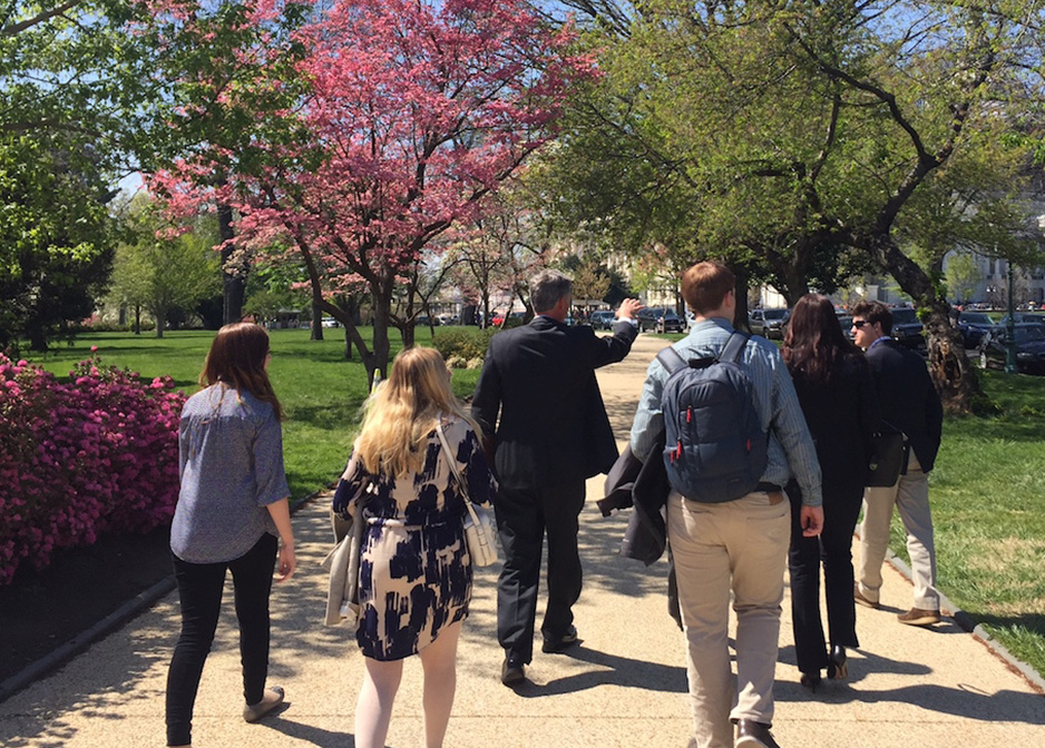 Dyer Fellows visited Washington D.C., where they were invited to tour the capitol grounds with Congressman Tom Rice.