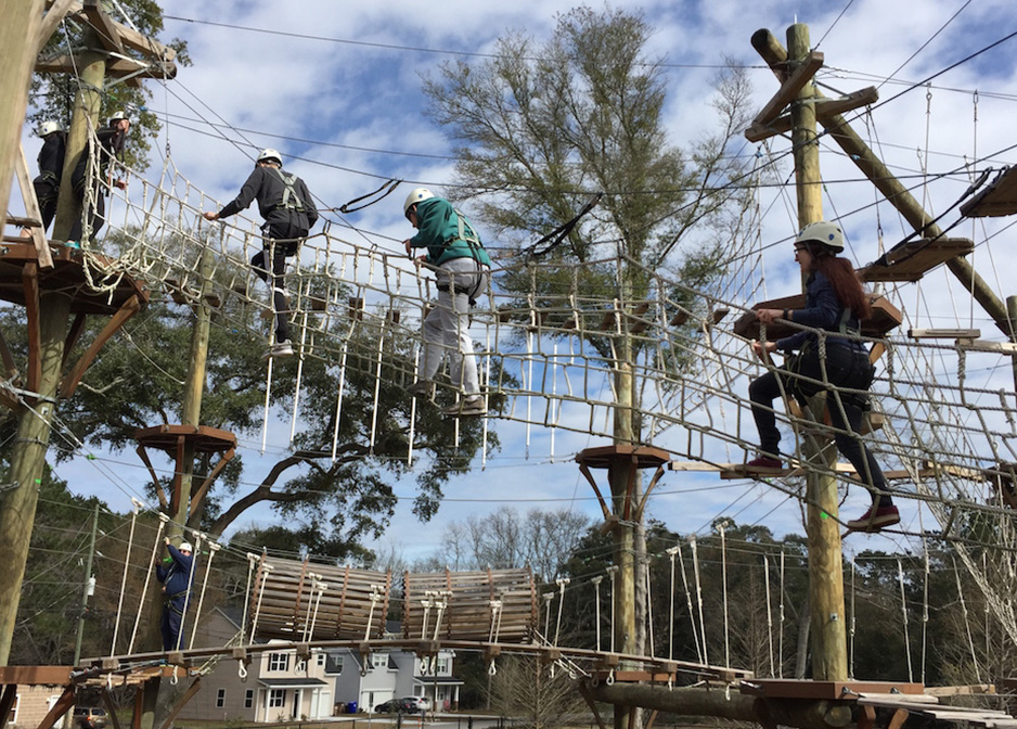 The Dyer Fellows visited the Wild Blue Ropes Team Building Course in Charleston. The goal of the trip was to focus on team building and team bonding.