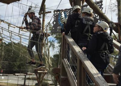 The Dyer Fellows visited the Wild Blue Ropes aerial obstacle course in Charleston, S.C., on Feb. 6, 2016.
