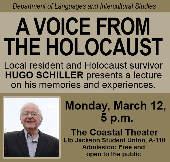 A Voice of From the Holocaust - Languages and Intercultural Studies - Lecture Event - March 2018 - Hugo Schiller