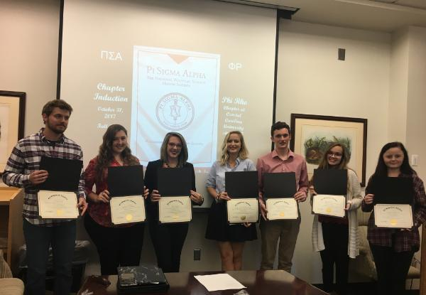 Fall 2017 Pi Sigma Alpha Induction Ceremony