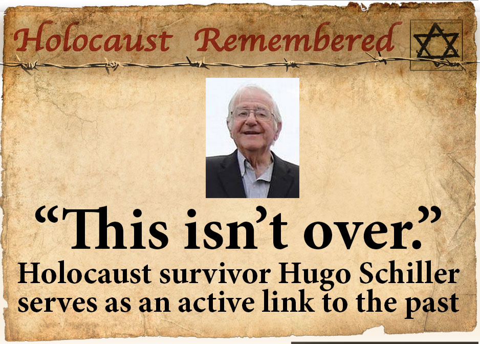 Holocaust Remembered (938x672) Holocaust survivor Hugo Schiller serves as an active link to the past. Tapestry 2018