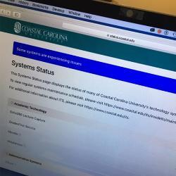 ITS Systems Status Page image