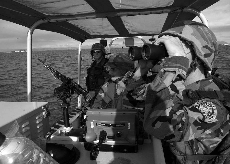 U.S. Coast Guardsmen near Guantanamo image