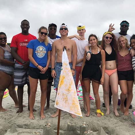 Students at the Beach image