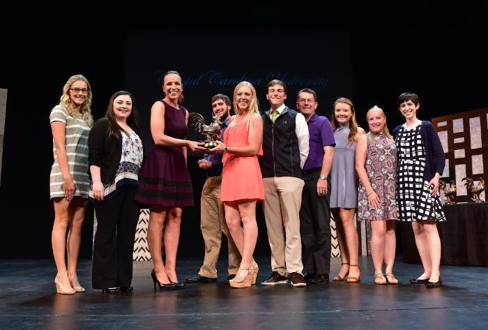 Colleges Against Cancer won a SILA in 2017 for Most Outstanding Philanthropy by a Student Organization.