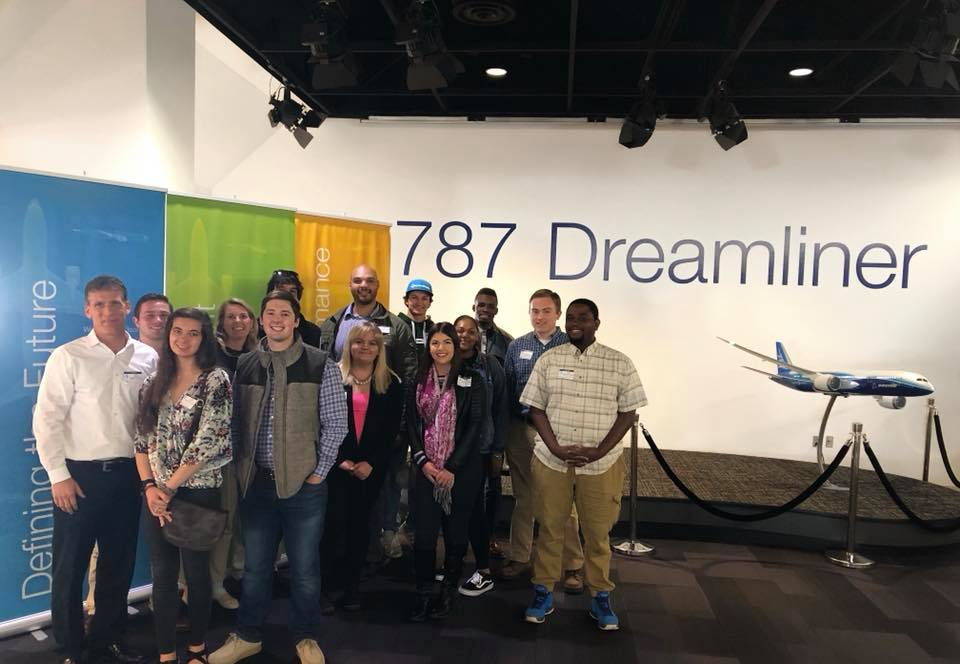 RE Club students/faculty visit Boeing SC Plant