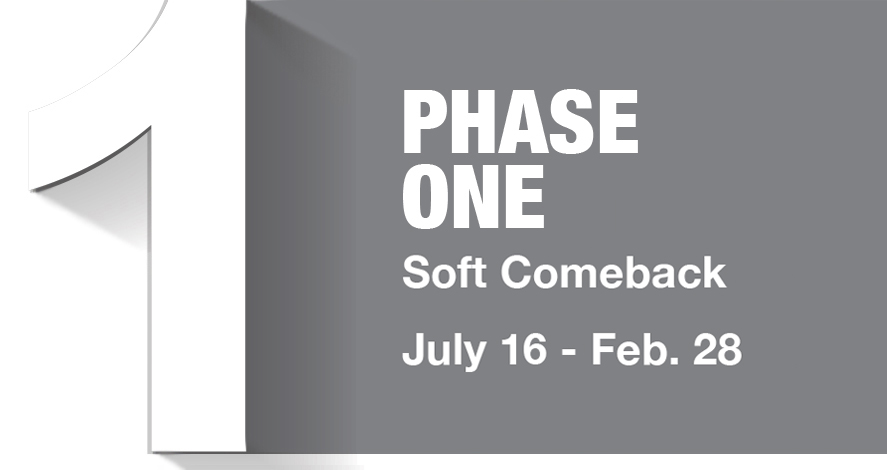 Phase 1 - with dates: July 16 - Feb. 28