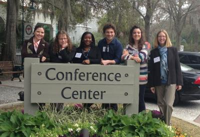Professor Denise Paster and the Master of Arts in Writing Graduate Teaching Assistants present at the South Carolina Council of Teachers of English Annual Conference at Kiawah Island.