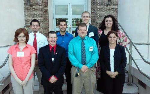 A photograph of the eight CCU students who participated in the 2015 Phi Alpha Theta Carolinas Regional Conference at USC Beaufort