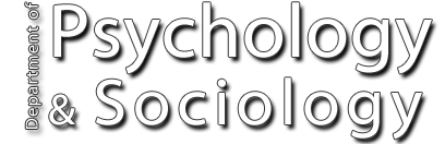 Department of Psychology and Sociology name