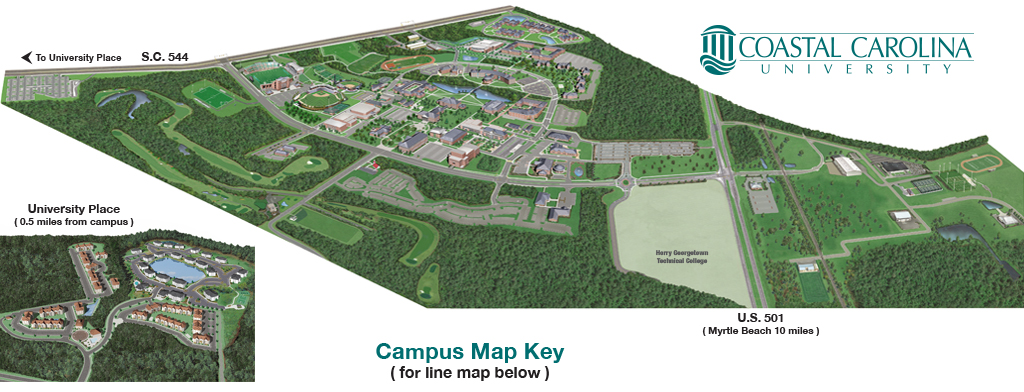 Coastal Carolina university campus map