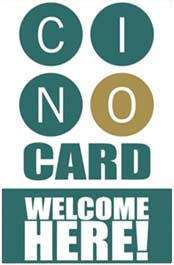 Logo for CINO Card Welcome Here