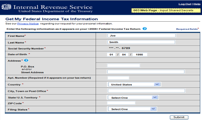 IRS Data Retrieval Instructions 2