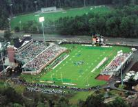 Brooks Stadium during first football game September 6, 2003