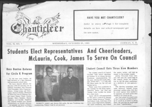 Chanticleer student newspaper October 1963