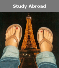 Study abroad feet paris