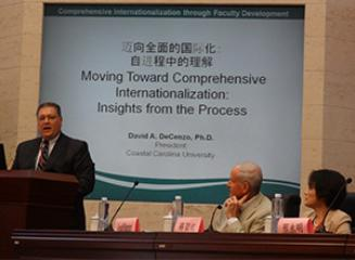 President DeCenzo speaks at Presidential Forum in Hohhot, China