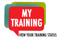View your training Status. Visit My Training