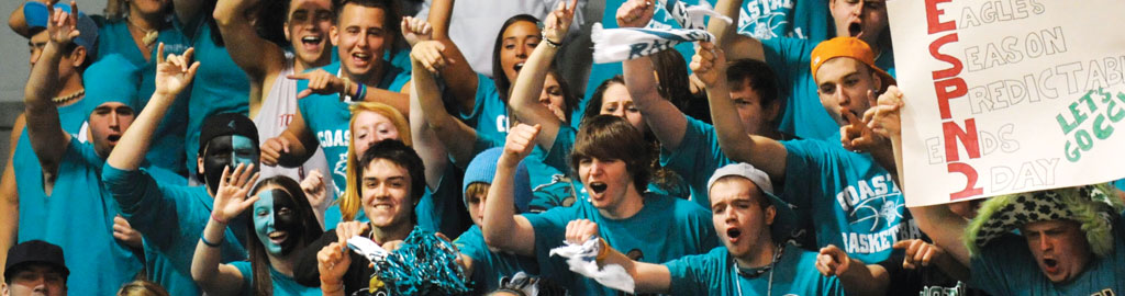 CCU students with spirit