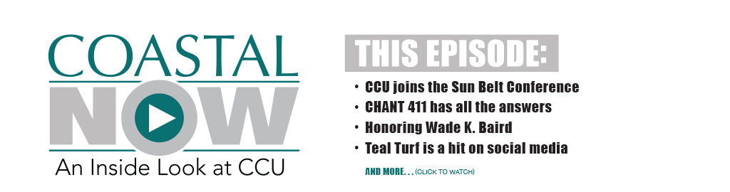 Banner graphic and link to current episode of Coastal Now.