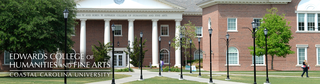 Image of Edwards Hall and link to College of Humanities and Fine Arts