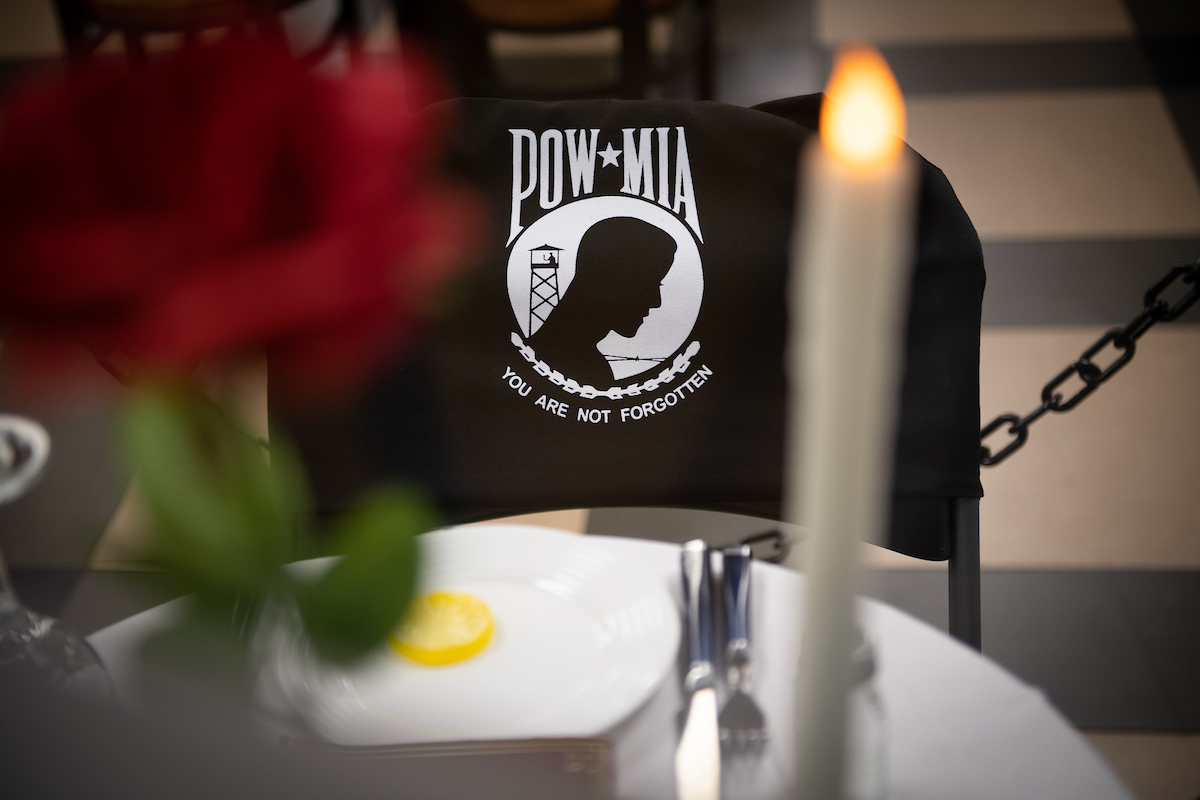 The POW/MIA table in the CINO Grille.