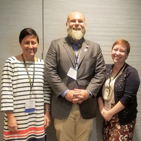 Professor Carolyn Dillian, Horry County Museum Director Walter Hill, and assistant professor Katie Clary.